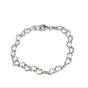 Jewelry - 925 Sterling Silver Heart Chain Bracelet